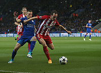 Leicester City's Jamie Vardy and Atletico Madrid's Diego Godin<br /> <br /> Photographer Stephen White/CameraSport<br /> <br /> The EFL Sky Bet Championship - Blackburn Rovers v Bristol City - Monday 17th April 2017 - Ewood Park - Blackburn<br /> <br /> World Copyright &copy; 2017 CameraSport. All rights reserved. 43 Linden Ave. Countesthorpe. Leicester. England. LE8 5PG - Tel: +44 (0) 116 277 4147 - admin@camerasport.com - www.camerasport.com
