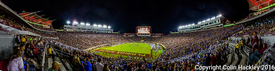 TALLAHASSEE, FLA. 11/26/16-The Florida State University versus University of Florida football game at Doak Campbell Stadium in Tallahassee.<br /> <br /> EDITOR'S NOTE: This photo is comprised of multiple photos taken at the same moment and stitched together in photoshop to create a panorama.<br /> <br /> COLIN HACKLEY PHOTO