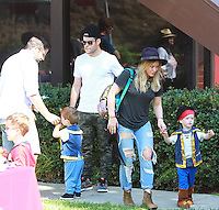 Hilary Duff and Family at a Halloween Party CA