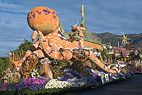"Tournament of Roses Parade Floats City of Long Beach Rose Parade Float ""Passport to the Pacific, "" submarine"