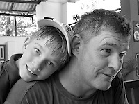 Chris Boyd and his son Rhys at BAREFOOT in 2012.