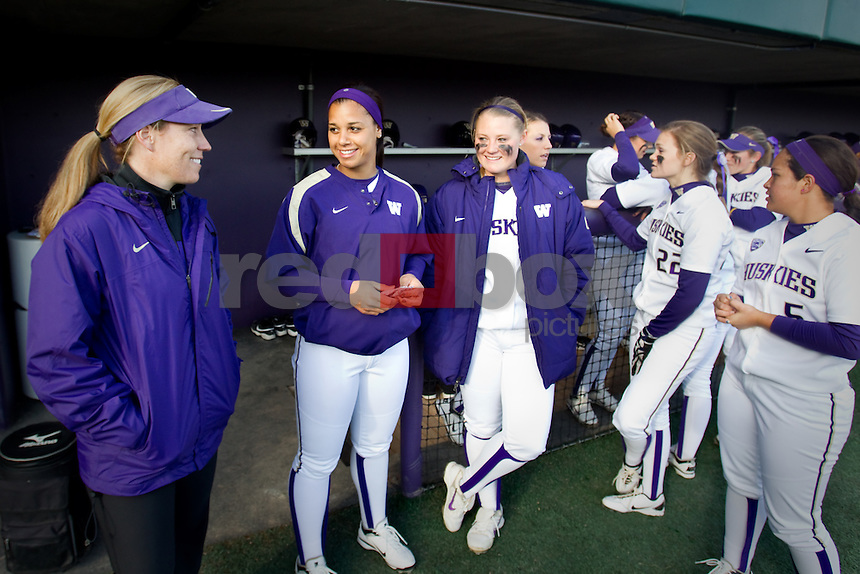 Heather Tarr . The University of Washington women's softball team played the University of Arizona at the UW in Seattle on Thursday April 5, 2012 . (Photo by Scott Eklund/ Red Box Pictures)