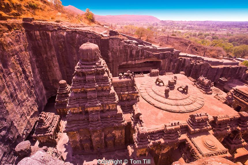 Kailasanatha Temple       Ellora World  UNESCO Heritage Site, India     8th Century Hindu Temple  Cave 16 R