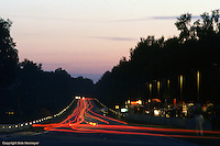 The exit of Mulsanne Corner, early evening during the 1984 24 Hours of Le Mans auto race.