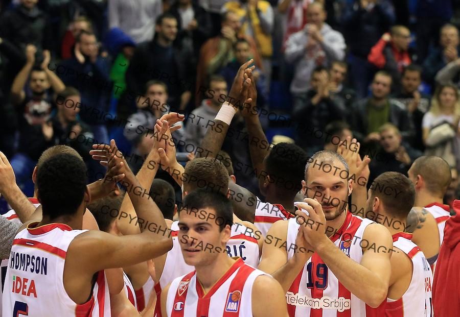 Kosarka ABA League season 2015-2016<br /> Crvena Zvezda v Partizan<br /> Nikola Rebic Marko Simonovic<br /> Beograd, 03.11.2015.<br /> foto: Srdjan Stevanovic/Starsportphoto&copy;