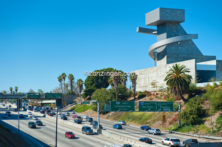 High School, Tower on Right, Visual, Performing Arts, Los Angeles, CA, Downtown, City, 101 Freeway