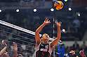 Daisuke Usami (JPN), DECEMBER 4,2011 - Volleyball : FIVB Men's Volleyball World Cup 2011,4th Round Tokyo(A) during match between Japan 0-3 Brazil at 1st Yoyogi Gymnasium, Tokyo, Japan. (Photo by Jun Tsukida/AFLO SPORT) [0003]