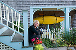 GLOUCESTER, MA.--Sept. 19, 2009- A set up stairs lead up to the gallery entrance of Sigrid Olsen's home studio.   CREDIT: Jodi Hilton for The New York Times