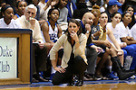 17 January 2016: Duke head coach Joanne P. McCallie. The Duke University Blue Devils hosted the Boston College Eagles at Cameron Indoor Stadium in Durham, North Carolina in a 2015-16 NCAA Division I Women's Basketball game. Duke won the game 71-51.