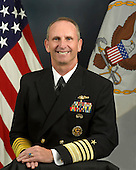 United States Navy Admiral Jonathan W. Greenert, a native of Butler, Pennsylvania became the 30th Chief of Naval Operations September  23, 2011. He graduated from the U.S. Naval Academy in 1975 and completed studies in nuclear power for service as a submarine officer.<br /> His career as a submariner includes assignments aboard USS Flying Fish (SSN 673), USS Tautog (SSN 639), Submarine NR-1 and USS Michigan (SSBN 727 - Gold Crew), culminating in command of USS Honolulu (SSN 718) from March 1991 to July 1993. Subsequent fleet command assignments include Commander, Submarine Squadron 11; Commander, U.S. Naval Forces Marianas; Commander, U.S. 7th Fleet (August 2004 to September 2006); and, Commander, U.S. Fleet Forces Command (September 2007 to July 2009). Greenert has served in various fleet support and financial management positions, including deputy chief of Naval Operations for Integration of Capabilities and Resources (N8); deputy commander, U.S. Pacific Fleet; chief of staff, U.S. 7th Fleet; head, Navy Programming Branch and director, Operations Division Navy Comptroller. Most recently he served as 36th vice chief of naval operations (August 2009 to August 2011). He is a recipient of various personal and campaign awards including the Distinguished Service Medal (6 awards), Defense Superior Service Medal and Legion of Merit (4 awards). In 1992 he was awarded the Vice Admiral Stockdale Award for inspirational leadership. He considers those awards earned throughout his career associated with unit performance to be most satisfying and representative of naval service.<br /> Mandatory Credit: Monica A. King / DoD via CNP