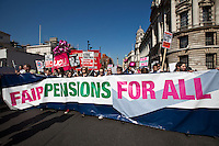 "28.03.2012 - ""Fair Pensions For All"" - NUT and UCU demonstration"