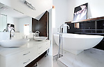 Interiors Photography: All White bathroom by Groupe Rono, Montreal, Quebec, Canada