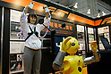 Flexible Sensor Tube on Wakamaru during a demonstration at the International Robot Exhibition in Tokyo on November 27, 2009. 200 robot companies and institutes exhibit their latest robot technologies during a four-day exhibition (photo Laurent Benchana/Nippon News).