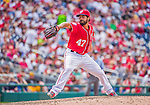 21 June 2015: Washington Nationals starting pitcher Gio Gonzalez on the mound against the Pittsburgh Pirates at Nationals Park in Washington, DC. The Nationals defeated the Pirates 9-2 to sweep their 3-game weekend series, and improve their record to 37-33. Mandatory Credit: Ed Wolfstein Photo *** RAW (NEF) Image File Available ***