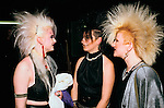 Sigue Sigue Sputnik. Punk band fans with fashionable big hairdos.  1980s  Newcastle Upon Tyne. UK
