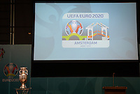 20161216 - AMSTERDAM , NETHERLANDS : illustration picture of the Euro 2020 Champions Cup with LOGO during the UEFA EURO 2020 Host City Logo Launch event at the Hermitage Amsterdam Venue in Amsterdam , The Netherlands , Friday 16 th December 2016 . PHOTO UEFA.COM | SPORTPIX.BE | DAVID CATRY