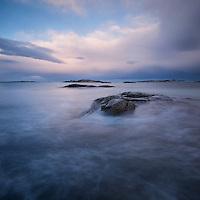 Rocks and sea, Lofoten Islands, Norway