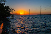 US, Florida Keys. Sunset at Upper Matecumbe Key, Islamorada.