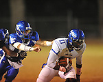 Water Valley vs. Aberdeen's Channing Ward (11) in Water Valley, Miss. on Friday, October 21, 2011. Water Valley won 20-14.