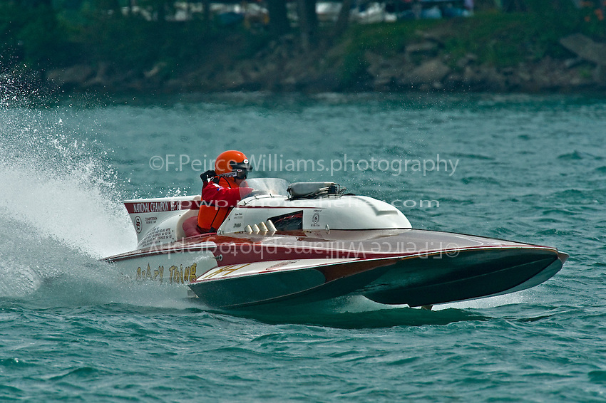 "13 July 2008  APBA Gold Cup.Mike Tucker, H-1 ""Miss Crazy Thing"" 7 Litre class Lauterbach hydroplane.©2008 F.Peirce Williams."