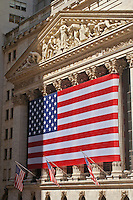 The New York Stock Exchange (NYSE),11 Wall Street, designed by Trowbridge & Livingston; George B. Post, Manhattan, New York City, New York, U