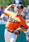21 May 2007:  Baltimore Orioles pitcher Steve Trachsel takes some warm-up pitches at Doubleday Field prior to Baseball's Annual Hall of Fame Game in Cooperstown, NY. The Orioles defeated the visiting Toronto Blue Jays 13-7...Mandatory Credit: Ed Wolfstein Photo