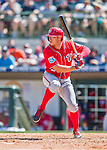 15 March 2016: Washington Nationals outfielder Matt den Dekker at bat during a Spring Training pre-season game against the Houston Astros at Osceola County Stadium in Kissimmee, Florida. The Nationals defeated the Astros 6-4 in Grapefruit League play. Mandatory Credit: Ed Wolfstein Photo *** RAW (NEF) Image File Available ***