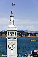 aerial photograph Ferry building San Francisco California