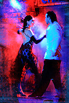 Tango dancers in the heat of passion