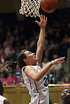 15 February 2012: Duke's Haley Peters. The Duke University Blue Devils defeated the Virginia Tech Hokies 67-45 at Cameron Indoor Stadium in Durham, North Carolina in an NCAA Division I Women's basketball game.