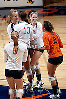 SAN ANTONIO, TX - SEPTEMBER 10, 2008: The University of Georgia Bulldogs vs. The University of Texas at San Antonio Roadrunners Volleyball at the UTSA Convocation Center. (Photo by Jeff Huehn)