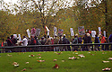 Demonstrators in Hyde Park, London protesting the country invasion of Iraq.London, UK.