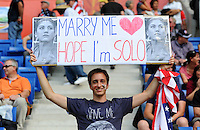 Fans of team USA during the FIFA Women's World Cup at the FIFA Stadium in Sinsheim, Germany on July 2nd, 2011.