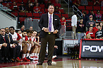 27 November 2015: NC State head coach Mark Gottfried. The North Carolina State University of North Carolina Wolfpack hosted the Winthrop University Eagles at the PNC Arena in Raleigh, North Carolina in a 2015-16 NCAA Division I Men's Basketball game. NC State won the game 87-79.