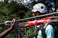 April 2009. Karkloof Canopy Tours, KwaZulu-Natal, Midlands. South Africa