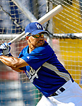 13 March 2007: Los Angeles Dodgers shortstop Rafael Furcal takes batting practice prior to facing the Detroit Tigers in a spring training game at Holman Stadium in Vero Beach, Florida.<br /> <br /> Mandatory Photo Credit: Ed Wolfstein Photo