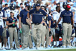24 September 2016: Pitt head coach Pat Narduzzi. The University of North Carolina Tar Heels hosted the University of Pittsburgh Panthers at Kenan Memorial Stadium in Chapel Hill, North Carolina in a 2016 NCAA Division I College Football game. UNC won the game 37-36.