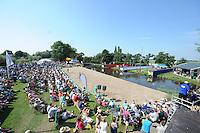 FIERLJEPPEN: VLIST: 22-08-2015, NK Fierljeppen/Polstokverspringen, overzicht schansen, Oane Galama, ©foto Martin de Jong