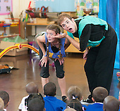 Students from Rose Bruford College perform at a state Infant School.