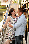 A sunset engagement photo session on the dock at the Delmar Hotel in Greenwich, Ct.
