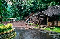 Java, East Java, Bromo Tengger. Mud slide beneath Mount Bromo. Probably caused by too intensive harvest of  rattan.