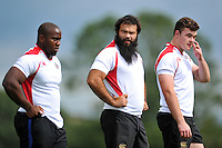 Kane Palma-Newport of Bath Rugby looks on. Bath Rugby training session on September 4, 2015 at Farleigh House in Bath, England. Photo by: Patrick Khachfe / Onside Images