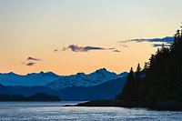 Sunset, Chugach mountains, Western Prince William Sound, Alaska