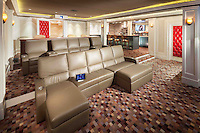 Lay back and get comfortable because everything you need for the perfect movie experience is in the same room. Control the lights and movie all from your touch panel and grab a snack from the rear bar area.