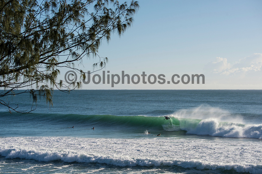 Coolangatta, Queensland Australia. (Wednesday August 27, 2014) Jay Bottle Thompson (AUS) surfing at Burleigh.–  The Gold Coast has had a run of good surf for the past 4 days with all the points from Snapper to Burleigh producing great waves.. Photo: joliphotos.com