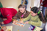 Kylie-ana Young & Kaya Mendelssohn From Pacific Elementary School Working On Signs For Beach Clean Up