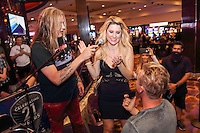 LAS VEGAS, NV - July 23, 2016: ***HOUSE COVERAGE*** Sebastian Bach and fans pictured at Sebastian Bach DJ set at The Center Bar at Hard Rock Hotel & Casino in Las vegas, NV on July 23, 2016. Credit: GDP Photos/ MediaPunch