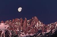 711700103 moonset over mount whitney before daybreak in the eastern sierras near lone pine califonria