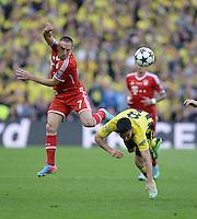 FUSSBALL  CHAMPIONS LEAGUE  SAISON 2012/2013  FINALE  Borussia Dortmund - FC Bayern Muenchen         25.05.2013 Franck Ribery (li, FC Bayern Muenchen) gegen Ilkay Guendogan (re, Borussia Dortmund)