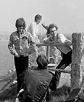George Harrisonand John Lennon during filming of Magical Mystery Tour 1967..© Chris Walter..